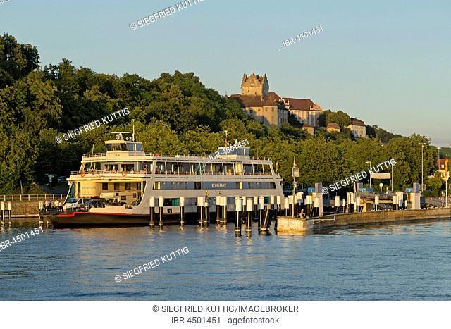 Ferry port, Meersburg, Lake Constance, Baden-Württemberg, Germany