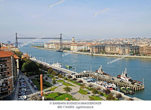 Puente de Vizcaya, Vizcaya Bridge, a transporter bridge, UNESCO World Heritage Site, Nervion River, Portugalete, Bilbao, Bizkaia province, Pais Vasco