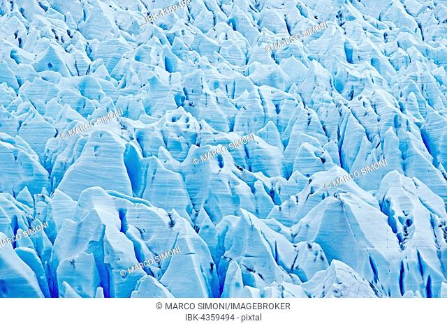 Ice sheet, Grey Glacier, Torres del Paine National Park, Patagonia, Chile