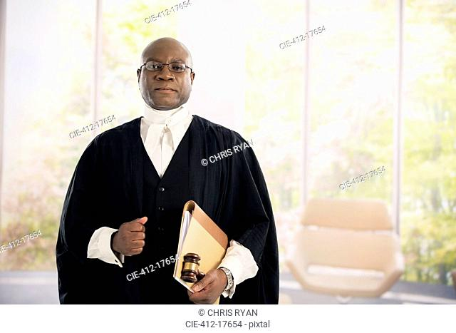 Portrait of serious judge