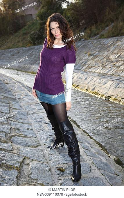 fashion outdoor in creek bed