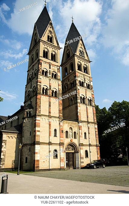 The Basilica of St. Castor is the oldest church in Koblenz in the German, Koblenz, Coblenz, Germany, Europe