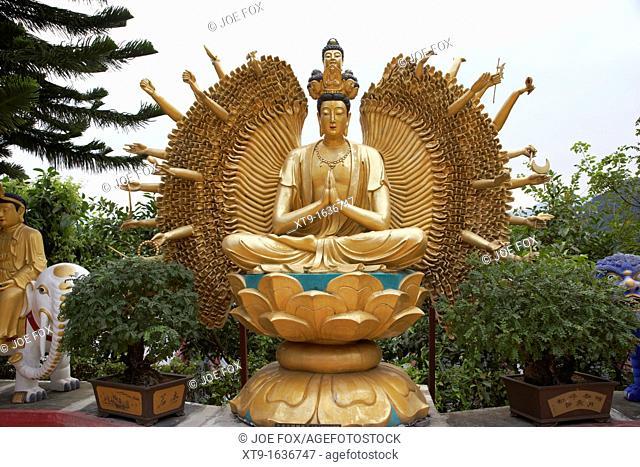 1000 armed avalokitesvara buddha ten thousand buddhas monastery sha tin new territories hong kong hksar china asia