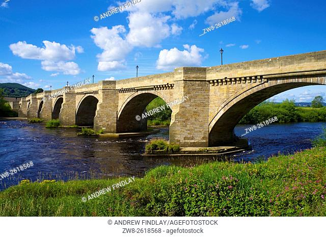 Corbridge Bridge, Corbridge, River Tyne, Northumberland, England, United Kingdom, Europe