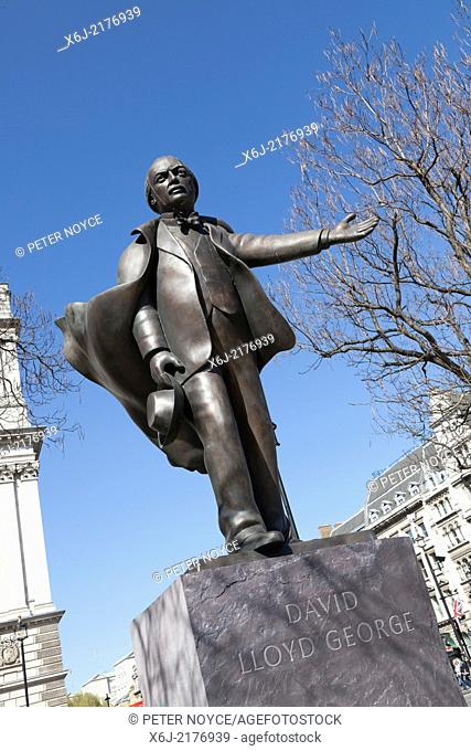Statue of David Lloyd George in Parliament Square London