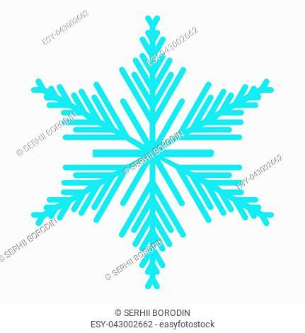 Snowflake icon blue color icon black color vector illustration isolated
