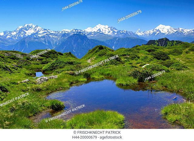 Swiss Alps, Mischabel, Matterhorn, Weisshorn, Valais, Switzerland