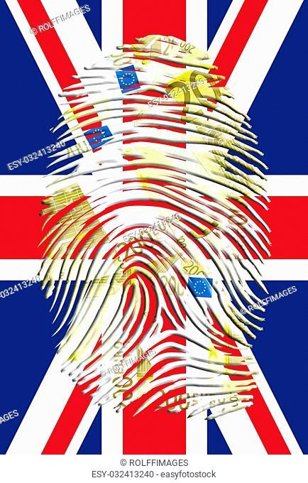 UK Flag with Euro Finger Print