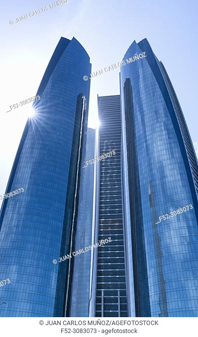 Etihad Towers, Abu Dhabi City, Emirate of Abu Dhabi, Persian Gulf, United Arab Emirates, UAE, The Middle East