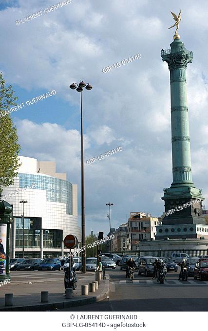 Square, Place de la Bastille, 12ème arrondissement, (75012), Paris, France