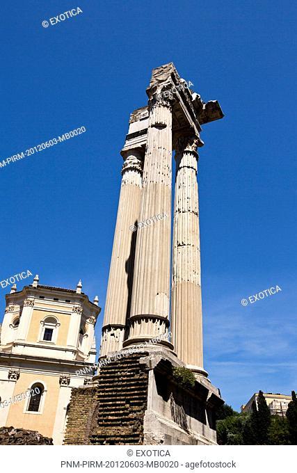 Ruins of columns, Roman Forum, Rome, Lazio, Italy