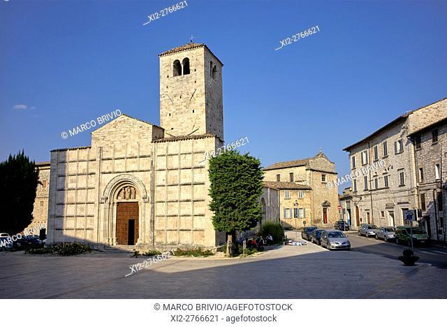 San Vincenzo e Anastasio church. Ascoli Piceno, Marche, Italy
