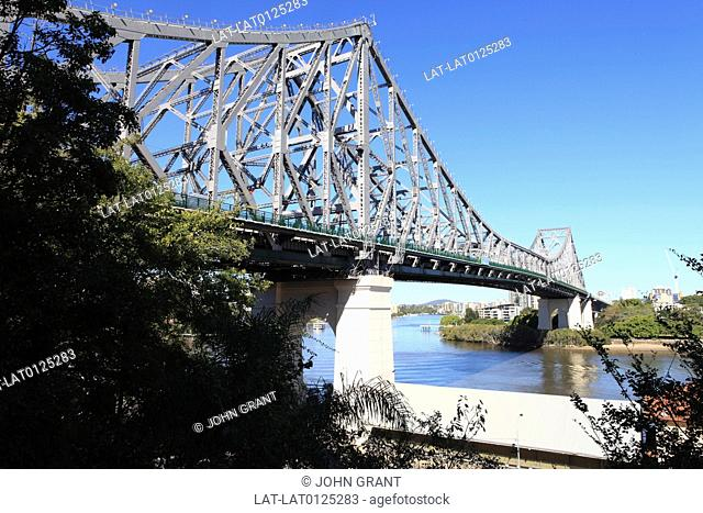 The Story Bridge is a cantilever bridge spanning the Brisbane River. Part of Bradfield Highway 15,it connects Fortitude Valley to Kangaroo Point