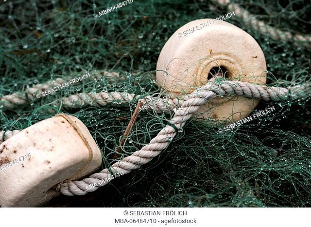 Fishing buoy and fishing net