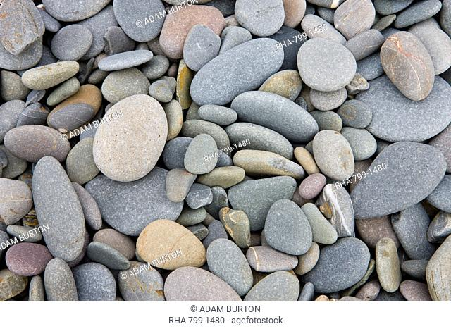Pebbles on Sandymouth beach, Cornwall, England, United Kingdom, Europe