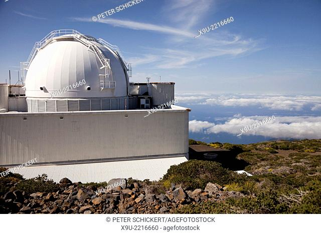 Roque de los Muchachos Observatory, an astronomical observatory on La Palma, Canary Islands, Spain, Europe