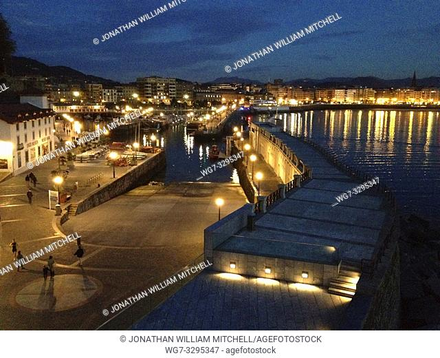 SPAIN San Sebastian / Donostia -- 19 Nov 2014 -- The harbour near the old quarter of San Sebastian / Donostia in the Basque Country of Spain -- Picture by...
