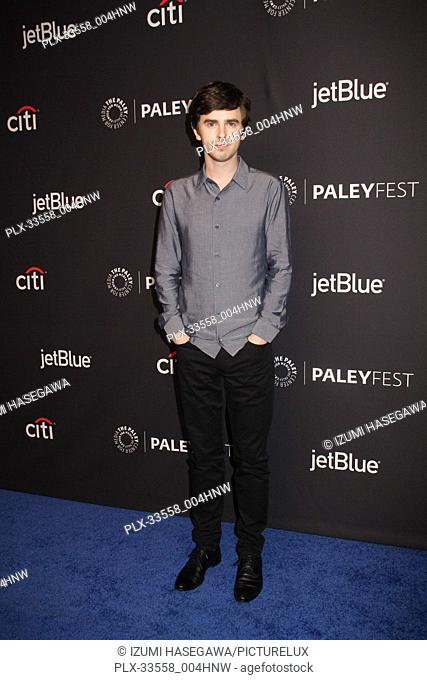 "Freddie Highmore 03/22/2017 PaleyFest 2018 """"The Good Doctor"""" held at The Dolby Theatre in Hollywood, CA Photo by Izumi Hasegawa / HNW / PictureLux"