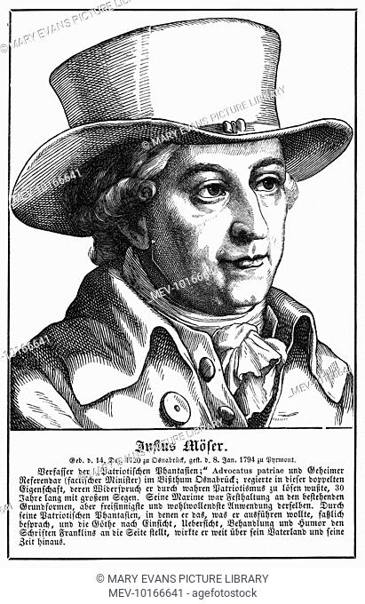 JUSTUS MOSER German statesman, writer and so on