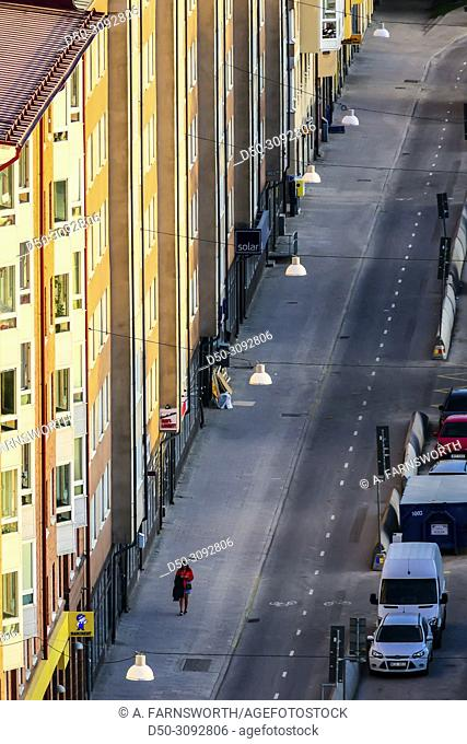 Street views over Norra Stationsgatan in Vasastan. Stockholm, Sweden