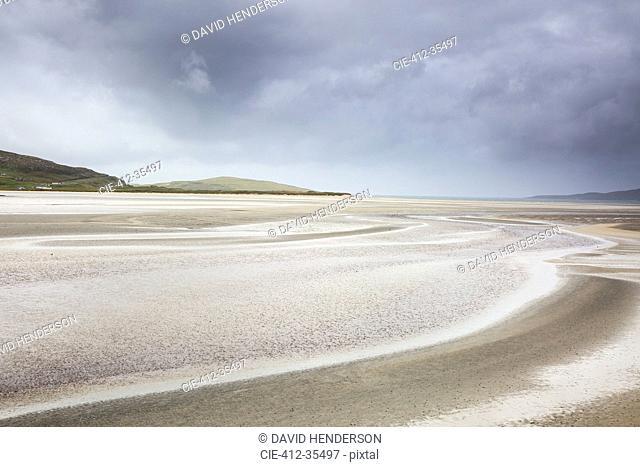 Tranquil sandy beach, Luskentyre Beach, Harris, Outer Hebrides