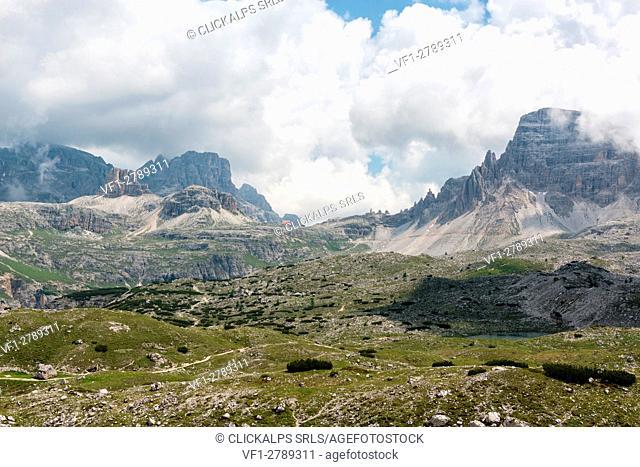 Trentino Alto Adige, Italy, Europe. Park of the Tre Cime di Lavaredo