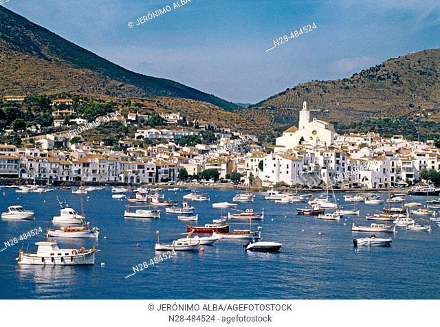 Coastal town of Cadaqués. Girona province. Costa Brava. Catalunya. Spain