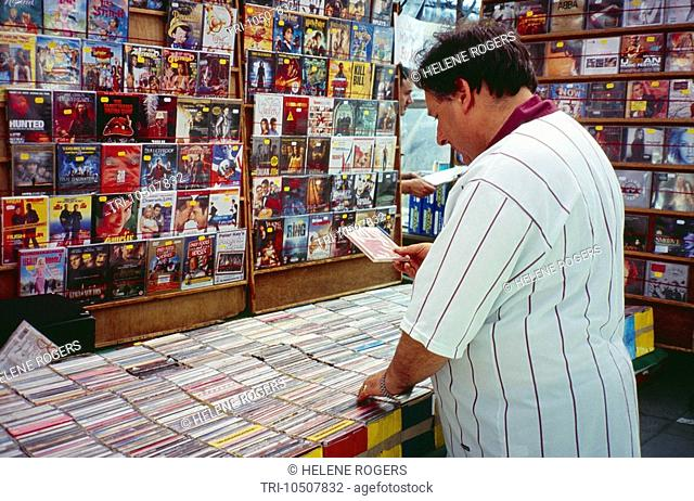 Market Stall Selling CDs in Lower Marsh London England