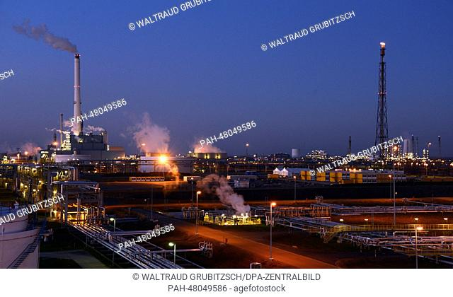View of a part of the 'Total' oil refinery in Leuna, Germany, 12 March 2014. A general inspection under the project title 'Matrix' is being conducted as part of...