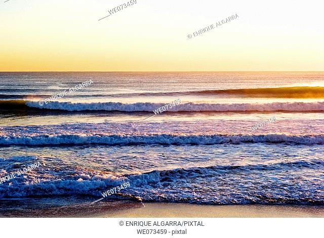 Saler beach, mediterranean sea, Valencia, Spain