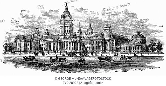 1879: The City Hall destroyed in the 1906 earthquake in San Francisco, California, United States of America