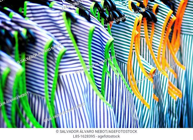 Market sale of clothing