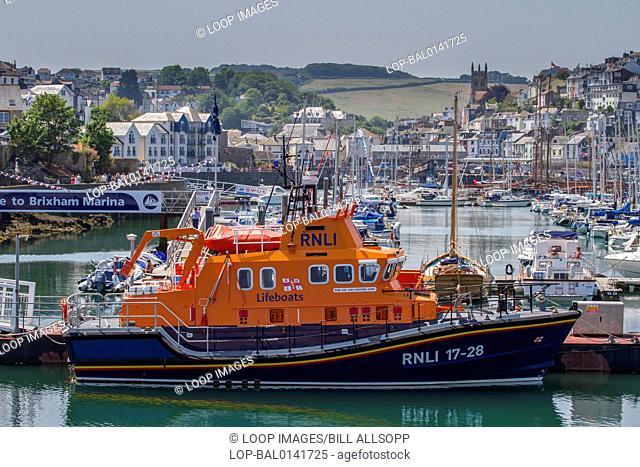 Brixham lifeboat and marina