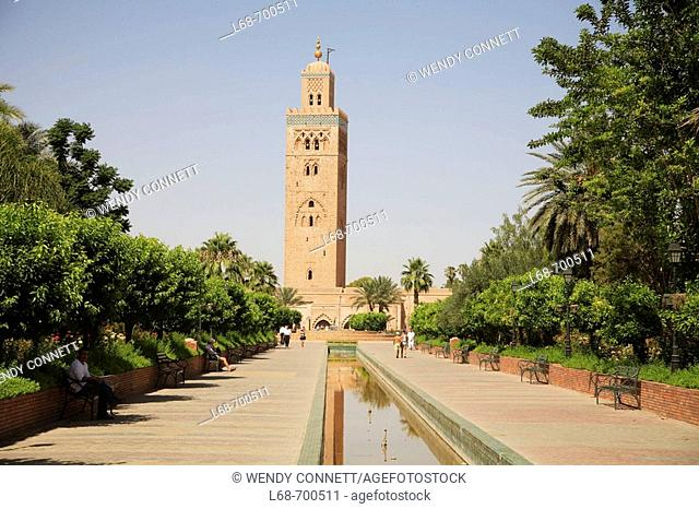 Koutoubia Mosque Marrakesh Morocco North Africa