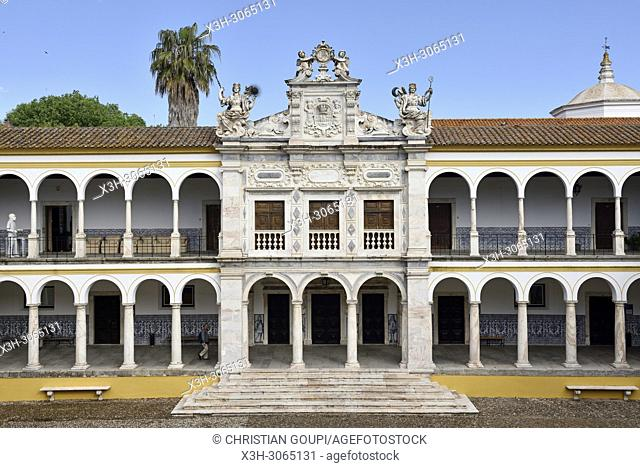 former Colegio do Espirito Santo courtyard, University of Evora, Alentejo region, Portugal, southwertern Europe