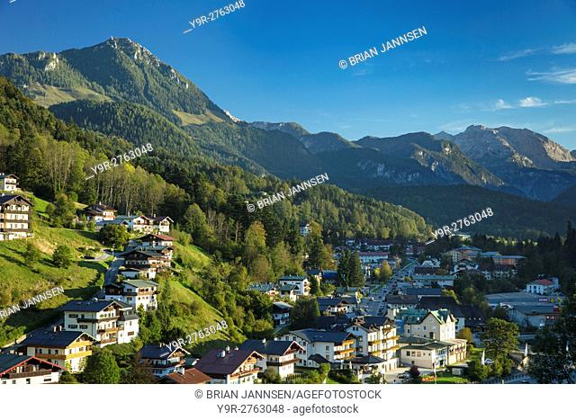 Evening view over Berchtesgaden, Bavaria, Germany