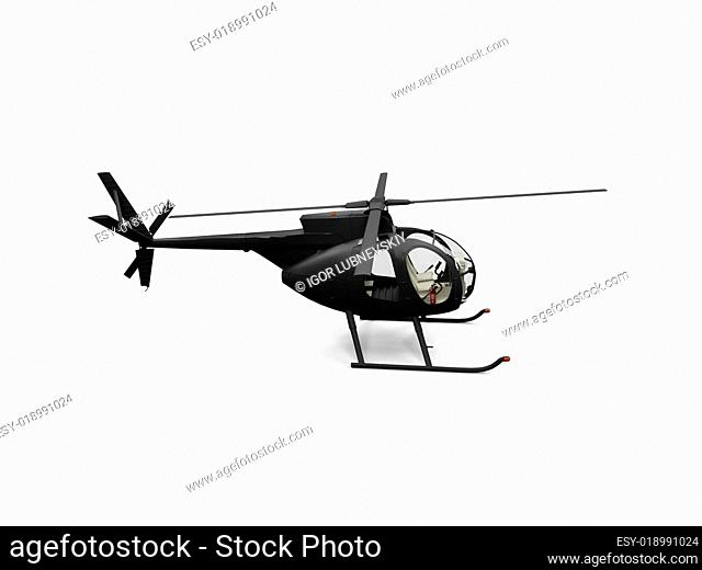 isolated helicopter view