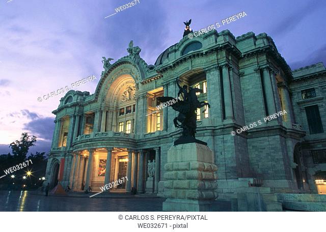 Palacio de Bellas Artes, Mexico City. Mexico D.F., Mexico