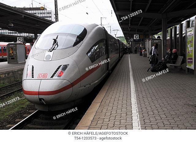 ICE Train at Wuerzburg Station