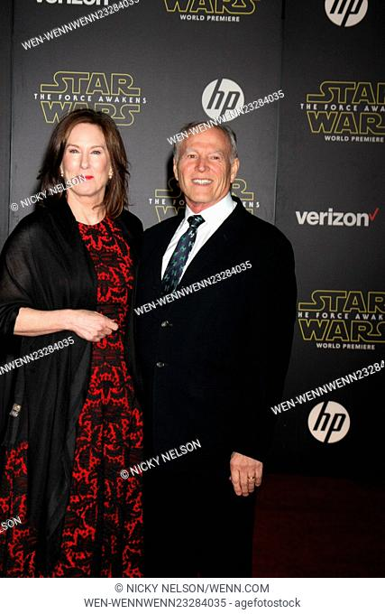 Star Wars - The Force Awakens World Premiere Featuring: Kathleen Kennedy, Frank Marshall Where: Los Angeles, California, United States When: 15 Dec 2015 Credit:...