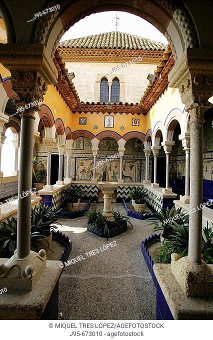 Palau Maricel, Sitges. Barcelona province, Catalonia, Spain