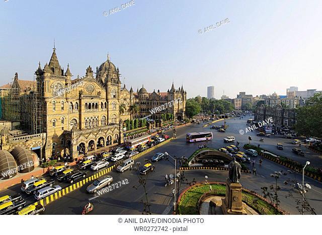 Victoria Terminus VT now Chhatrapati Shivaji Terminus CST railway station , Bombay Mumbai , Maharashtra , India UNESCO World Heritage