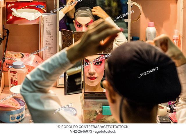 Cantonese Opera backstage, Hong Kong