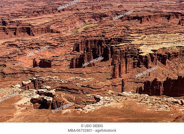 The USA, Utah, San Juan county, Moab, Canyonlands National Park, Island in the Sky, view close Grand View Point