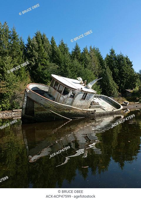 At rest in Grappler Inlet on Vancouver Island, British Columbia, Canada