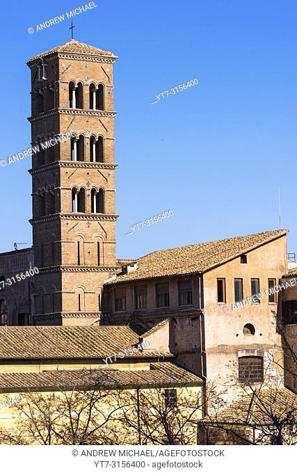Santa Francesca Romana church (Basilica di Santa Francesca Romana), previously known as Santa Maria Nova, Rome, Italy, next to the Roman Forum
