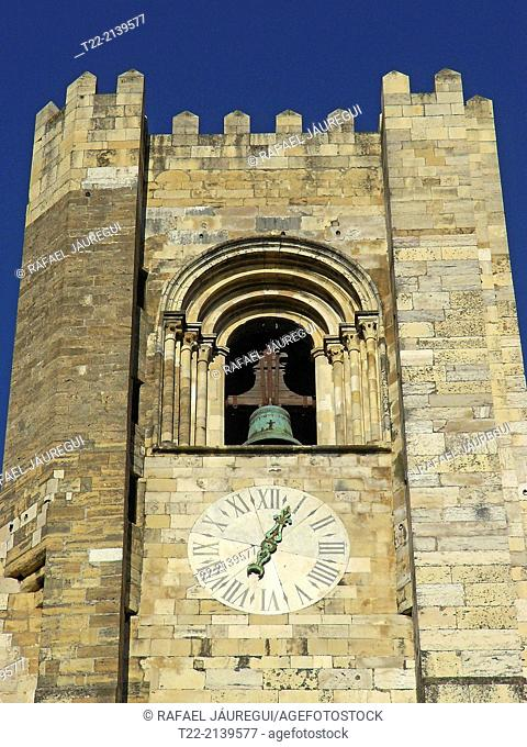 Belfry of the Cathedral of Lisbon (Portugal)