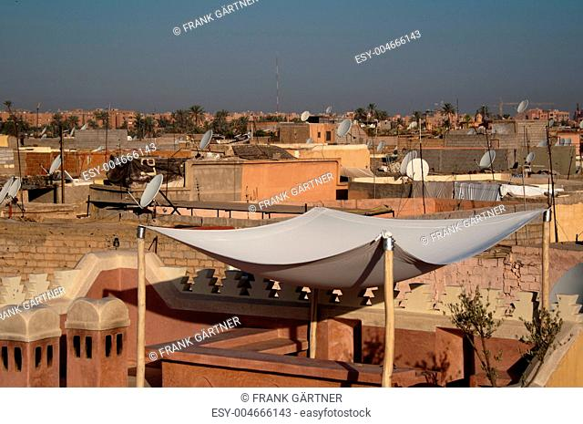 Roofs of Marrakech, Morocco