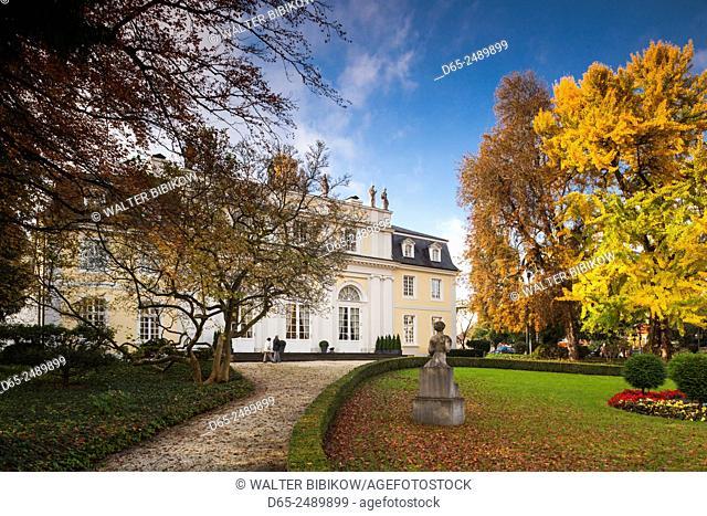 Germany, Nordrhein-Westfalen, Bad Godesberg, La Redoutte, former Electors Ballroom, 1790, and where young Composer Beethoven met Composer Joseph Haydn in 1792