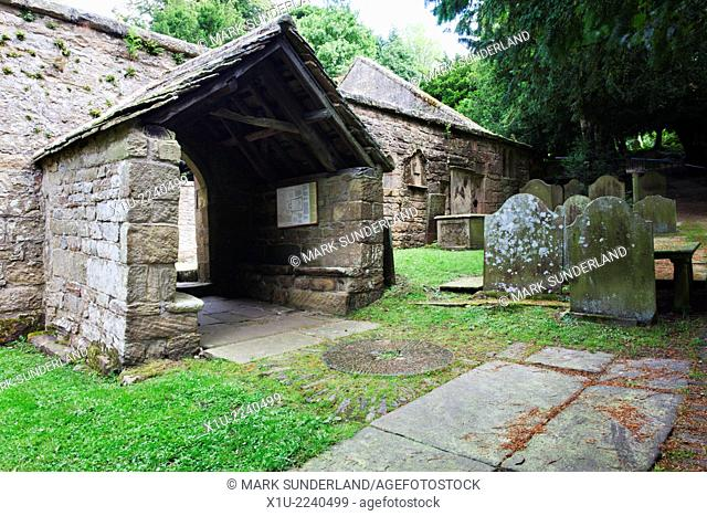 Porch at Old St Marys Church Pateley Bridge North Yorkshire England